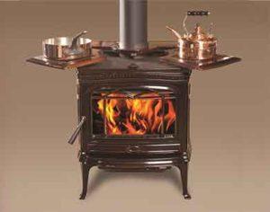 pacific energy 2 estufa de leña ollas fuego