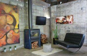 pacific energy 2 estufa de leña salon moderno