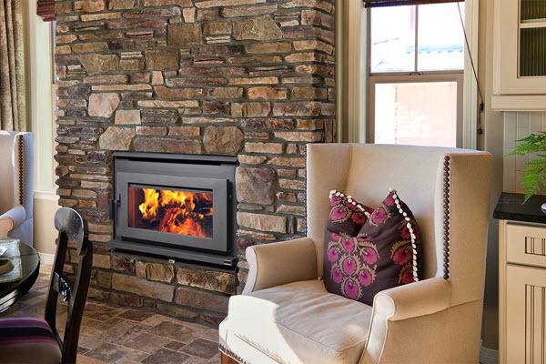 pacific energy 2 estufa de leña chimenea salon