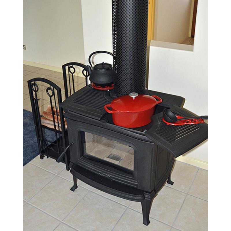 estufa pacific energy negra cocina
